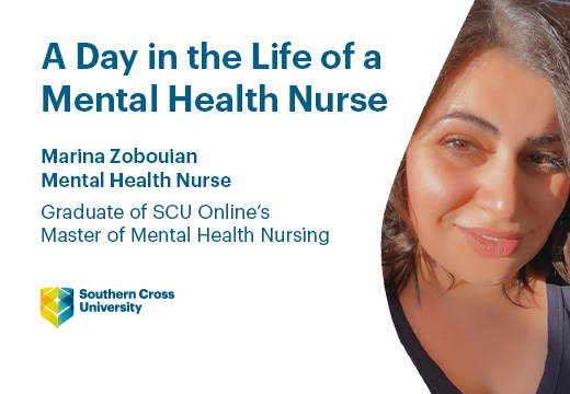 An image of Marina Zobouian, a Graduate of SCU Online's Master of Mental health Nursing.