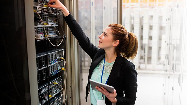 IT professional checking server